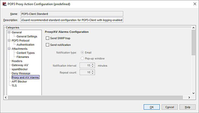POP3-Proxy: Proxy and AV Alarms