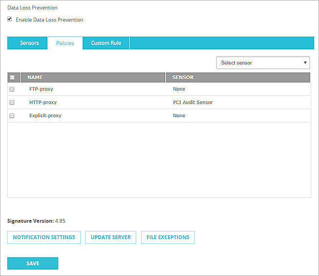 Configure DLP for Policies