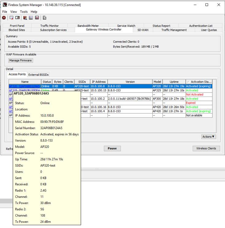 Monitor AP Status