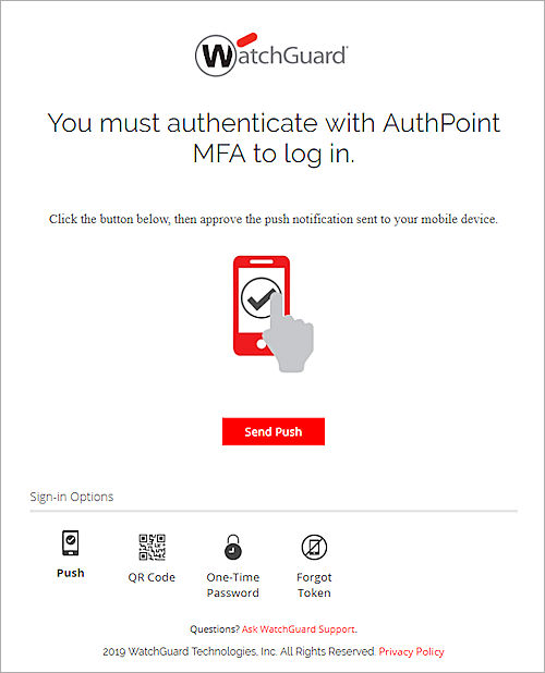 Enable MFA for Your WatchGuard User Account