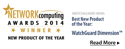 WatchGuard Dimension wins Best New Product of the Year!