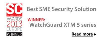 Winner: WatchGuard XTM 5 series - Best SME Security Solution