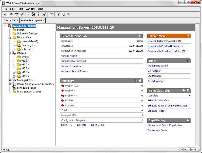 Add Managed Devices to the Management Server