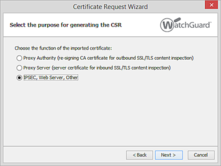 Import and Install a Third-Party Web Server Certificate