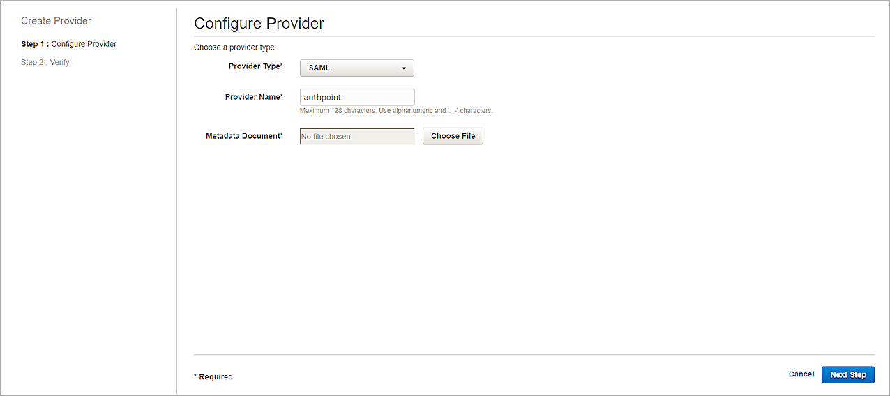 Amazon Web Services Integration with AuthPoint