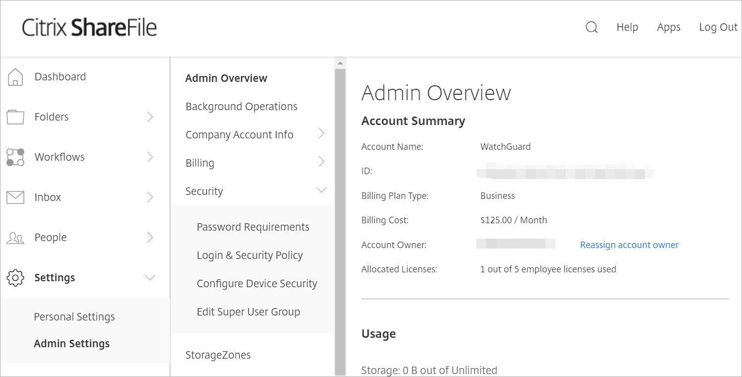 Citrix ShareFile Integration with AuthPoint