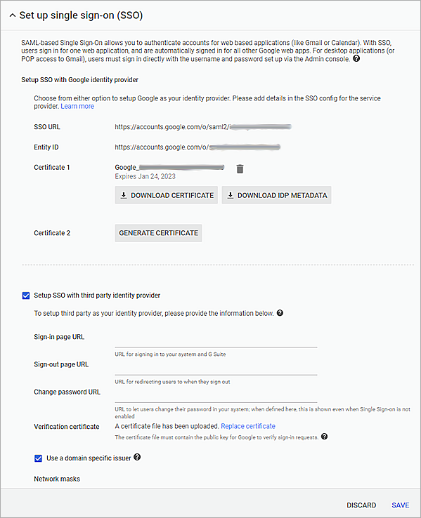 Google G Suite Integration with AuthPoint