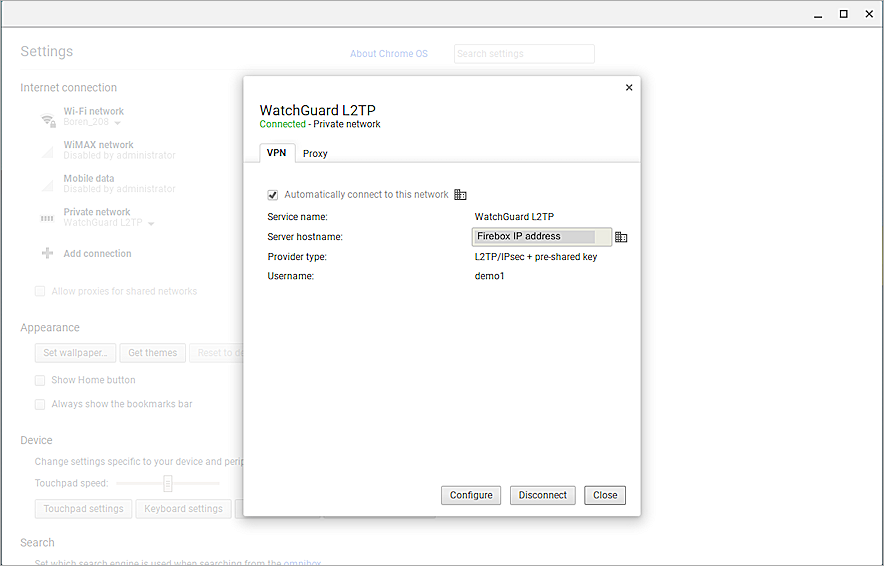 Chromebook with WatchGuard Explicit Proxy Integration Guide