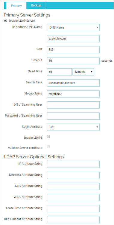Configure LDAP Authentication