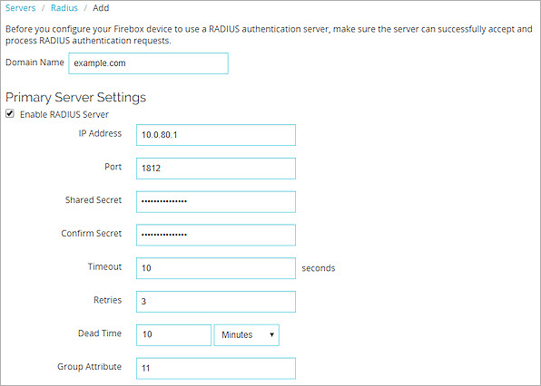 Configure RADIUS Server Authentication