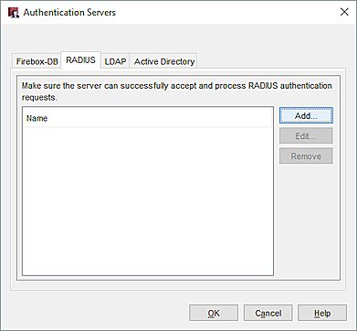 Configure RADIUS Server Authentication