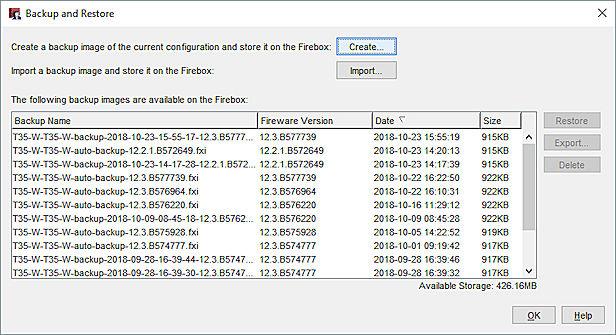 Restore a Firebox Backup Image