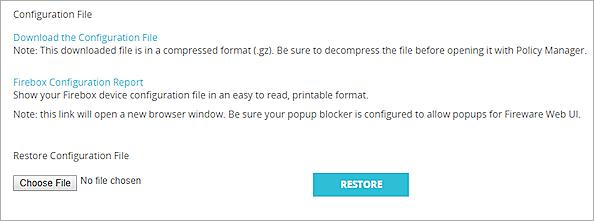 Manage the Firebox Configuration File