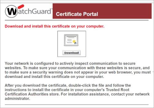 Certificate Portal