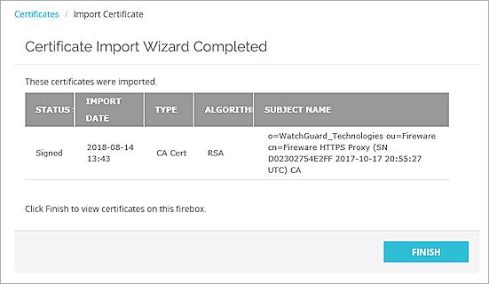 Manage Device Certificates (Web UI)