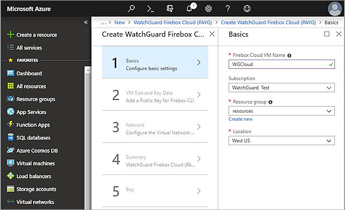 Deploy Firebox Cloud on Microsoft Azure