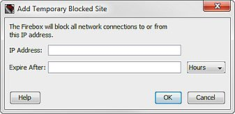 Manage the Blocked Sites List (Blocked Sites)