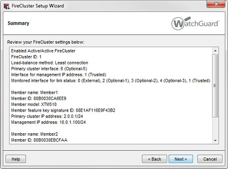 Use the FireCluster Setup Wizard