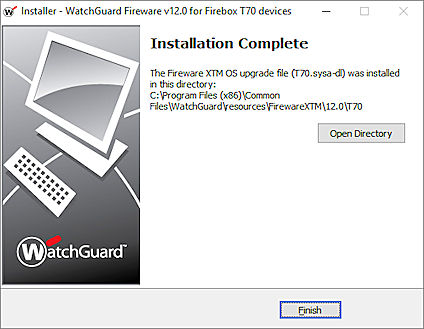 Upgrade Fireware OS or WatchGuard System Manager