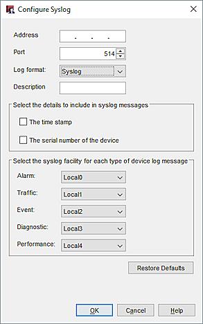 Configure Syslog Server Settings