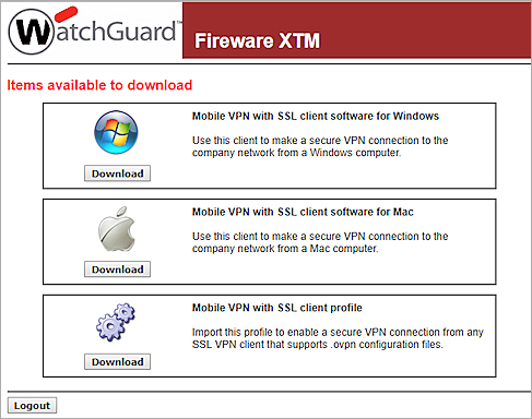 Watchguard ssl mobile vpn client