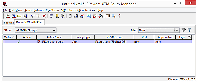 Configure Policies to Filter IPSec Mobile VPN Traffic