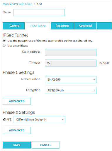 Configure the Firebox for Mobile VPN with IPSec