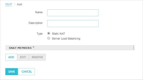 Configure Static NAT (SNAT)