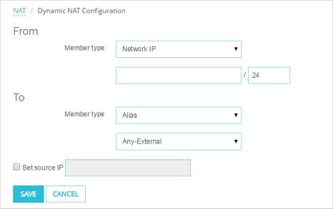 Add Network Dynamic NAT Rules