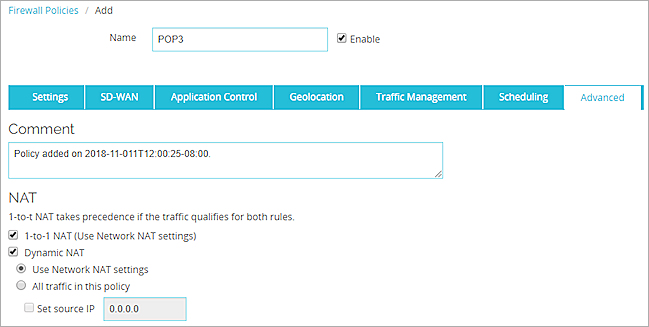 Configure Policy-Based Dynamic NAT