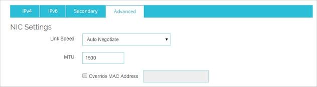 Network Interface Card (NIC) Settings