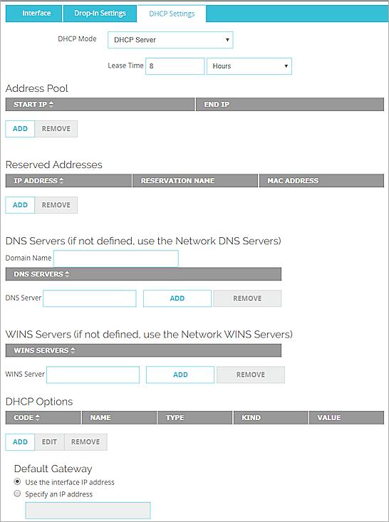 Configure DHCP in Drop-In Mode