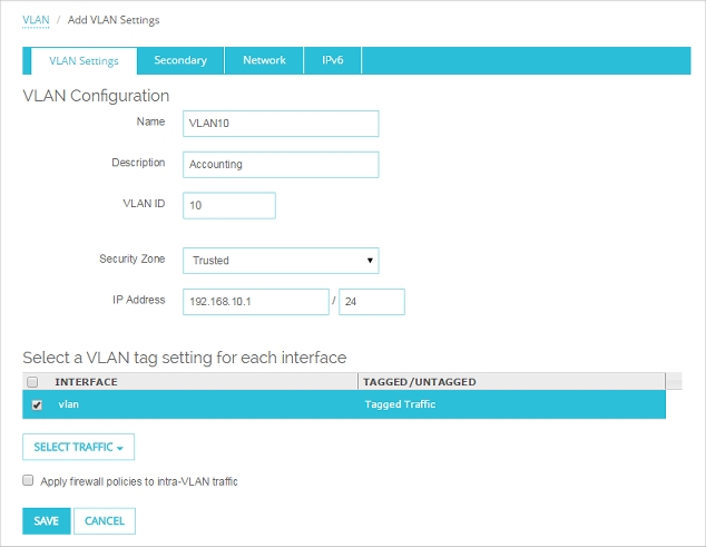 Configure Two VLANs on the Same Interface