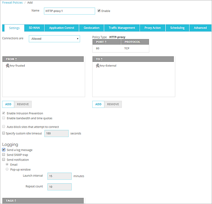 Add Policies to Your Configuration