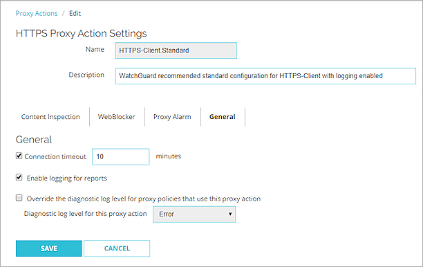 HTTPS-Proxy: General Settings