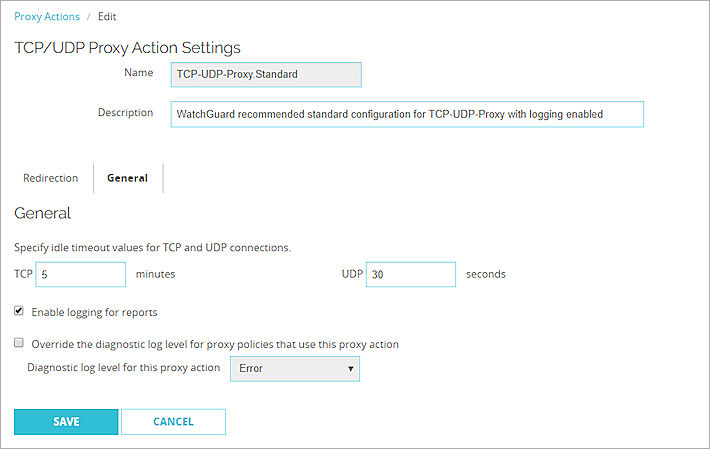 TCP-UDP-Proxy: General Settings
