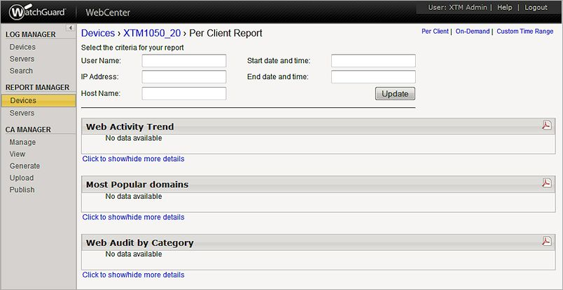 Generate Per Client Reports