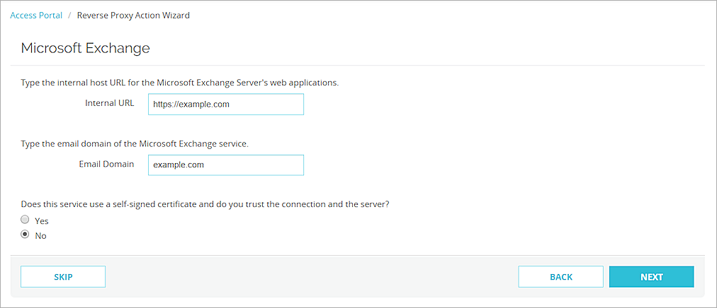 Reverse Proxy for the Access Portal