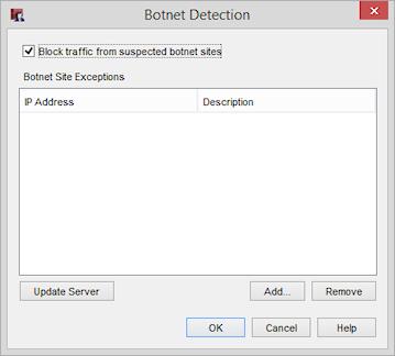 Configure Botnet Detection