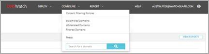Manage DNSWatch Whitelist Domains