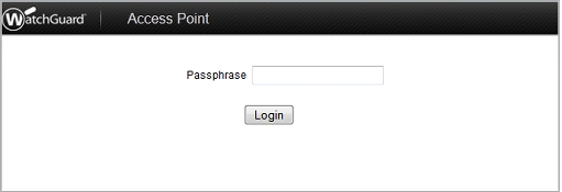 Use the WatchGuard Access Point Web UI