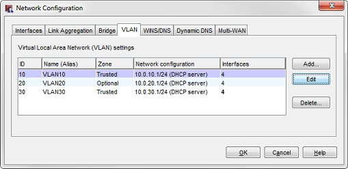 Configure VLANs for WatchGuard APs