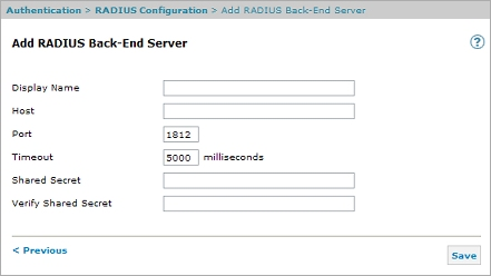 Add a RADIUS Back-End Server