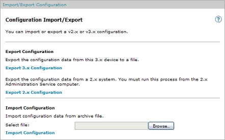 Import or Export the Configuration