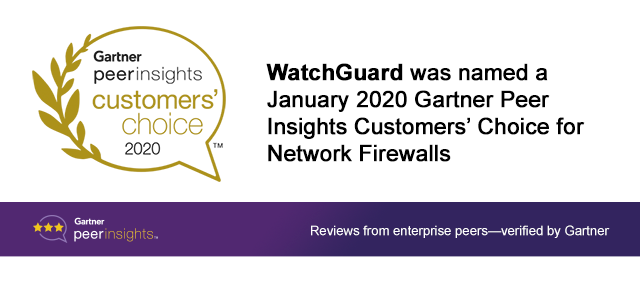 Gartner Peer Insights Customers' Choice for Network Firewalls