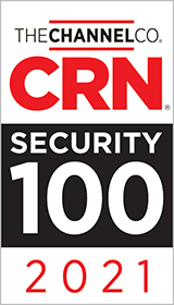 2021 CRN Security 100 award badge