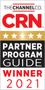 CRN Partner Program Guide Winner 2021 award badge