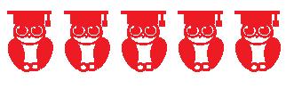 Illustration: 5 Owls in graduation caps