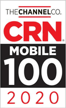 CRN Mobile 100 - 2020 Award badge