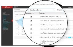 Screenshot: Data Loss Prevention
